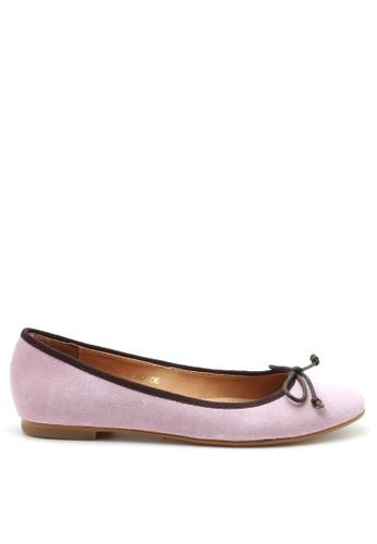 PRODUIT PARFAIT pink Suede Ballerina 068C6SH2D4C9AEGS_1