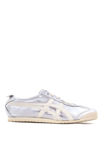 Onitsuka Tiger white and silver Mexico 66 Sneakers ON625SH53PVQPH_1