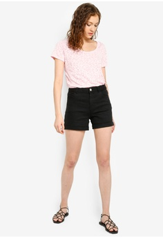 0311f995de Dorothy Perkins Black Denim Shorts S$ 39.90. Available in several sizes