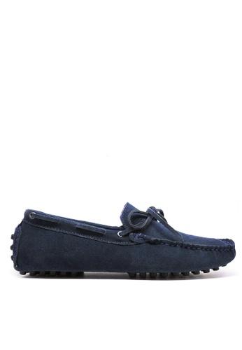 Twenty Eight Shoes 藍色 真牛猄皮休閒帆船鞋MC025 874BCSH242DA8BGS_1