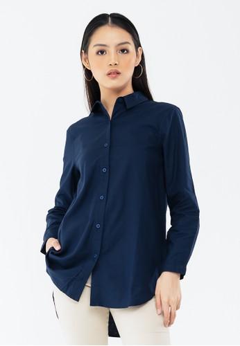 GEELA blue Anulika Shirt 45467AA89D9E6AGS_1