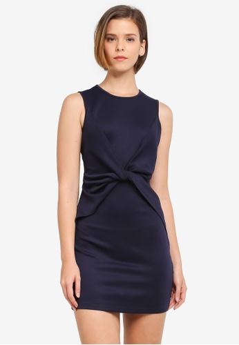 ZALORA navy Twist Panel Sleeveless Dress 0F33CAAB4CC803GS_1