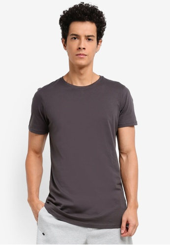 Cotton On grey Essential Longline Tee 8A0D5AA9E71FFAGS_1