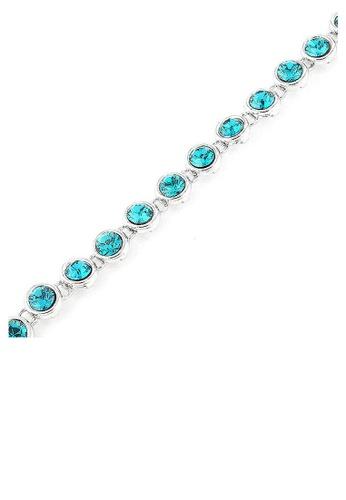 Glamorousky blue Cutie Dots Bracelet with Blue Austrian Element Crystals B2E84AC621C8C7GS_1