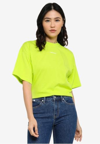 CALVIN KLEIN green Micro Brand Loose Tee - CK Jeans D3ACBAA5B02551GS_1