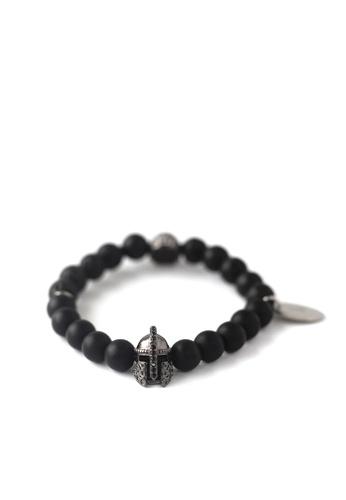 Gnome and Bow black Helmskull Bracelet 666E9ACB0DED06GS_1