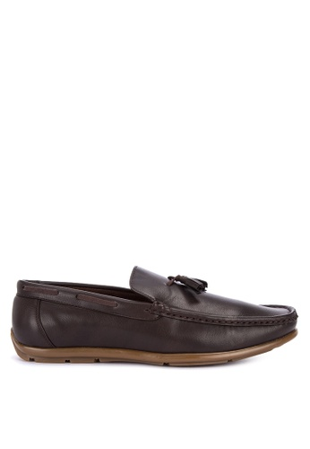 Italianos brown Parker Loafers 95649SH2F7FA2CGS_1