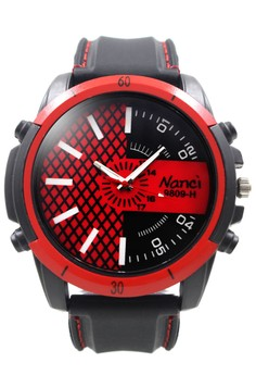 Nanci Leonardo Rubber Strap Watch 9809-H