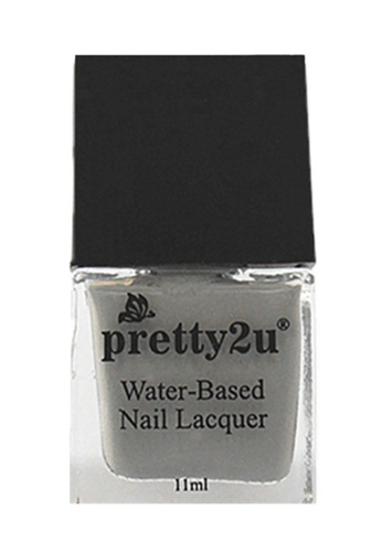 Pretty2u grey Peel Off Water-Based Nail Lacquer 25 PR716BE86EDXMY_1