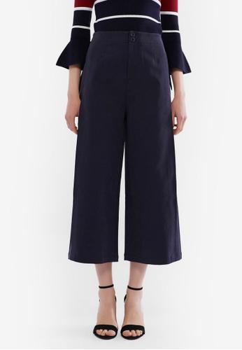 Hopeshow 海軍藍色 High Waist Culotte Pants 08380AA8D915CAGS_1