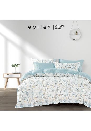 Epitex Epitex Hybrid Botanic Silk 1000TC Printed Bedsheet - Fitted Sheet Set - w/o quilt cover C2475HL047C4CFGS_1