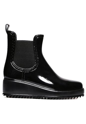 Twenty Eight Shoes 黑色 船踭短桶雨靴 TW446SH07ZXKHK_1