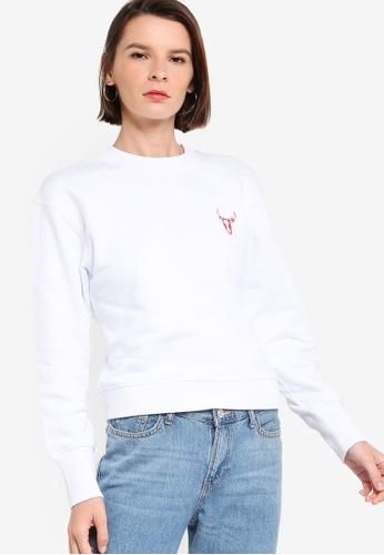 ck Calvin Klein white YEAR OF OX COTTON TOP 0D4B7AA1A6F500GS_1