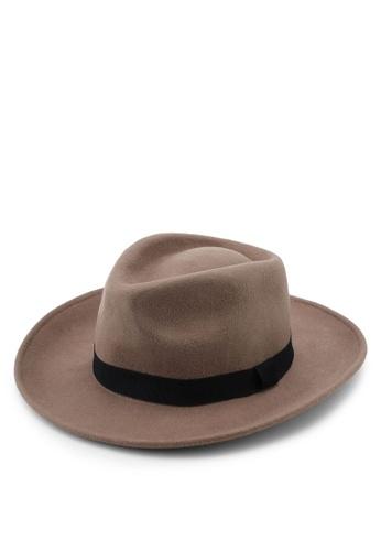 4362b0f52d79a Buy Topman Brown Gambler Hat Online on ZALORA Singapore