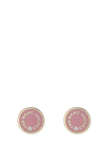 Marc Jacobs pink The Medallion Studs Stud earrings 584EAAC80C33A2GS_1