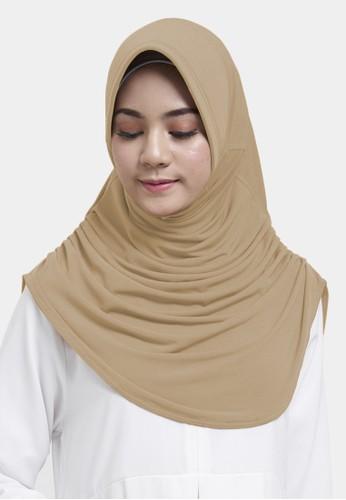 zelena beige Zelena Hijab Sabrina Basic - Creamy Latte 79F2DAAFF7FED7GS_1