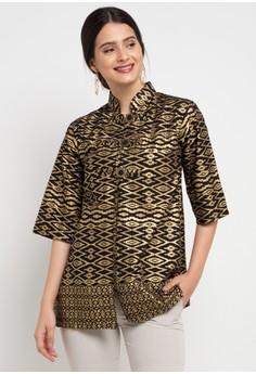 Batik Martha black and gold Nafeeza Outer 3E5FEAA8D4F0F3GS 1 4cf3860366