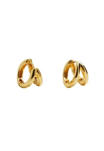 Mango gold Twisted Hoop Earrings A185EAC50DDAAEGS_1