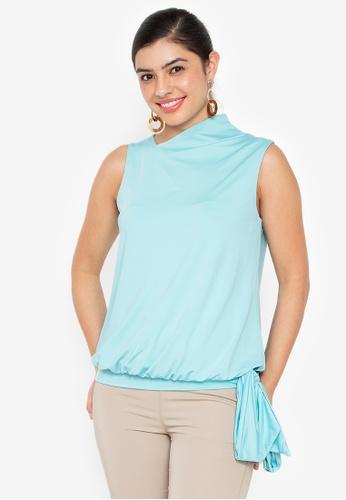 Wear Kris blue Kismet Sleeveless Top EAB36AA18D5920GS_1