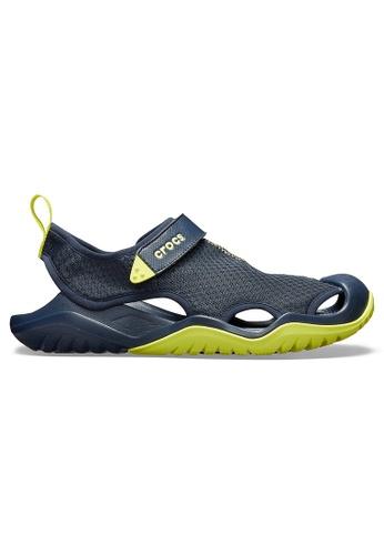 8ad97bcae056 Crocs navy Men s Swiftwater™ Mesh Deck Sandal Navy Cit 15E4FSHC751157GS 1