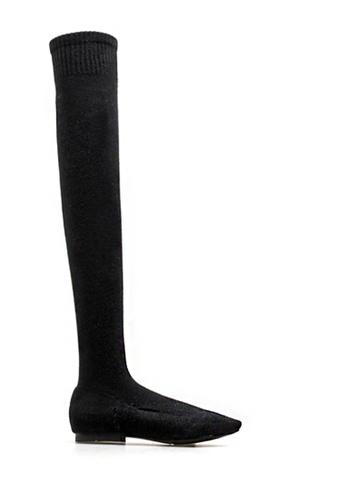 Twenty Eight Shoes black Socking Skinny Over Knee Boot 2239 151F4SH0FE7B58GS_1