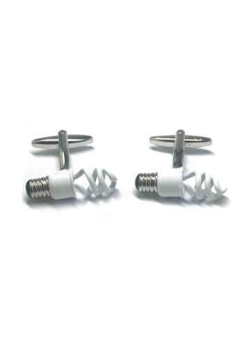 Splice Cufflinks Energy Saving Light Bulb Electricians Sparkys Cufflinks SP744AC39ABCSG_1