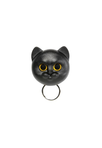 Qualy Qualy Neko Cat Key Holder (Black) 6F684HLCEACB7BGS_1
