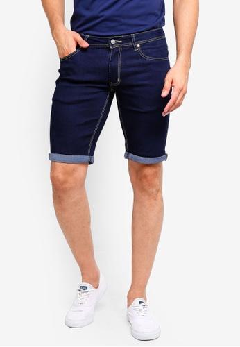 High Cultured 藍色 牛仔短褲 D3696AA11FFB85GS_1