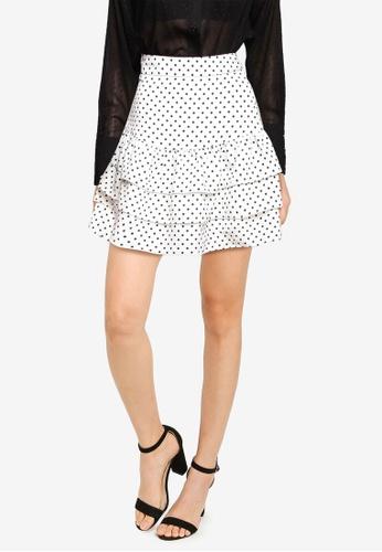 ZALORA BASICS multi Tiered Mini Skirt 0CB5FAA1ADF2FCGS_1