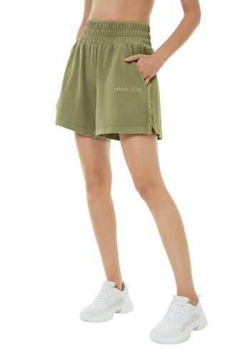 MAHA YOGI Calathea French Terry Shorts - Forest Green 4C98AAA6D2FD60GS_1