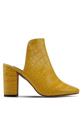 River Island yellow Ad Campaign Croc Closed Toe Mule D082ESH203DB5EGS_1