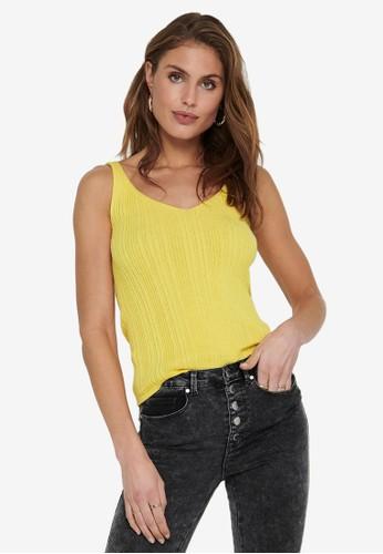 ONLY yellow Lina Rib Top 994F5AAC52CCBFGS_1