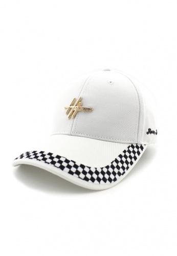 DOSSCAPS white HATER Sketch Logo Racing Cap (White) F4567AC46EFA92GS_1