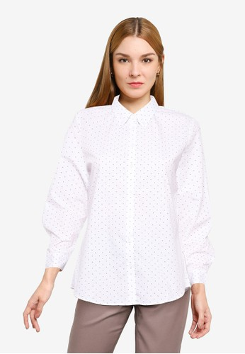 G2000 white Double Dice Shirt w/ Buttoned Collar 40ACAAA1AE13FFGS_1