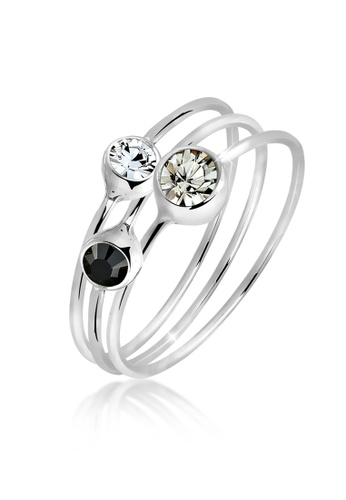 ELLI GERMANY white Ring Set Stacking Crystal F4E79ACA8F1885GS_1