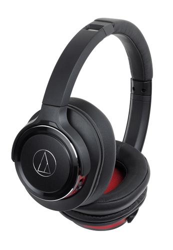 Audio Technica black Audio Technica ATH-WS660BT Wireless Solid Bass Headphone - Black/Red D60A3ES5FC0CE5GS_1