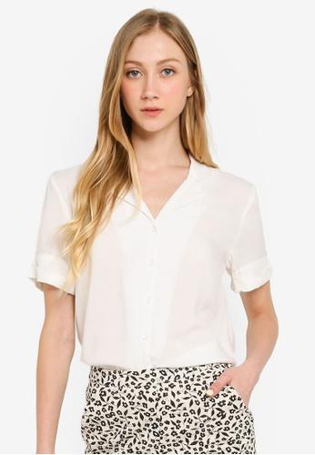 Compania Fantastica white Revere Collar Shirt FD226AA0DAF988GS_1