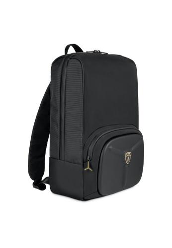 Lamborghini black Automobili Lamborghini® LMBG3 Black Backpack 42194ACDFC25ABGS_1