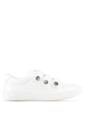 Something Borrowed white Velcro Tri Strap Sneakers 430DBSHE192D6CGS_1