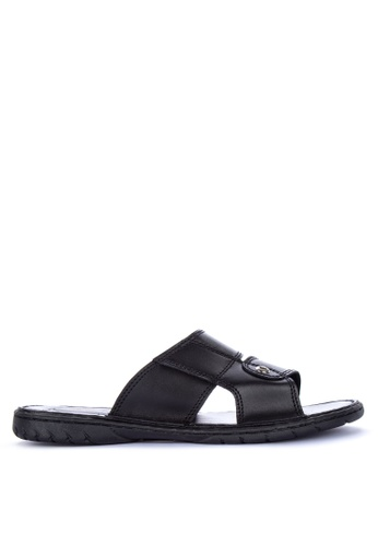 H2Ocean black Ademar Slide Sandals 338EFSH622A23DGS_1