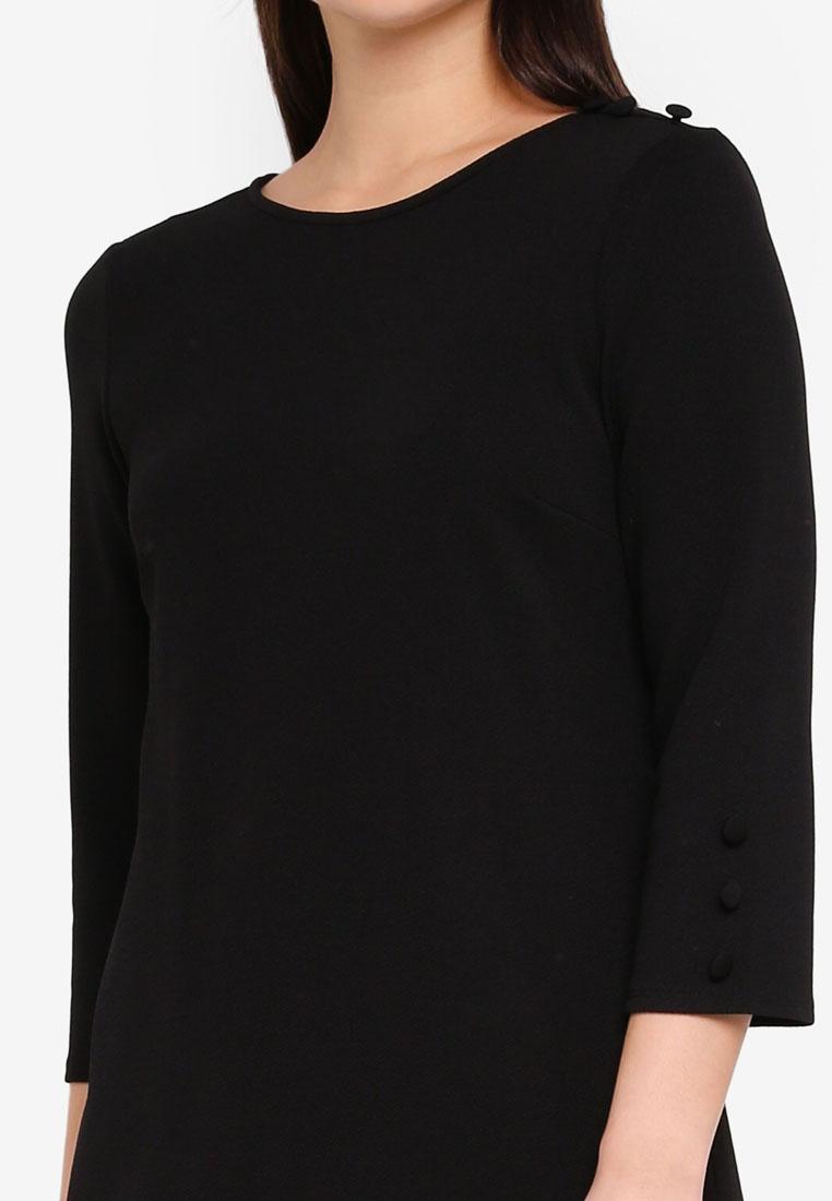 Dorothy Black Shift Button Black Dress Perkins UqP4BXt