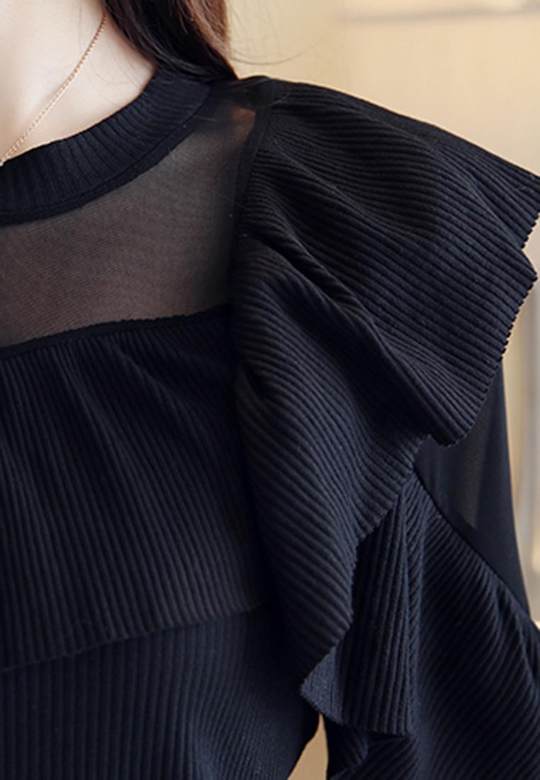 Top Through Halo Knitting See F Black W PpCwXx0w7q