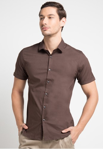 MOC brown EIGHTMILE BESTBUY-BROWN SS Shirt 49BB7AA4A576D5GS_1
