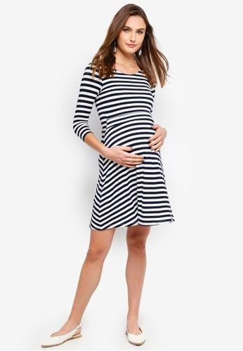 7cb11971e37e3 Buy Seraphine Nadia Nautical Maternity Stripe Nursing Dress Online | ZALORA  Malaysia