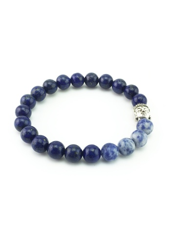 Memento Collection blue Buddha Detailed with Lapis & Blue Spot Jasper ME060AC29TECMY_1