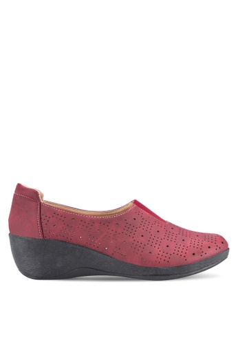 Louis Cuppers red Wedge Loafers LO977SH18BEJMY_1