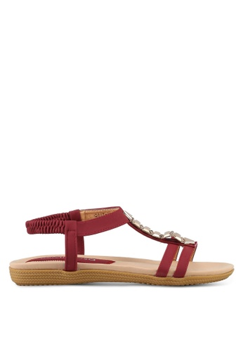 Mimosa red Sling Back Sandals 58224SH9F55F96GS_1