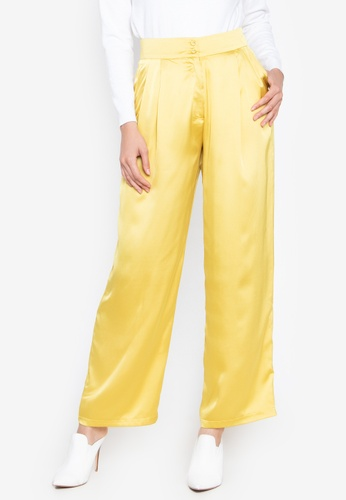 the___edit yellow Dua Satin Pants 0A748AA82C45E4GS_1