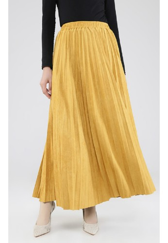 ZAHRA SIGNATURE yellow Long Skirt Plisket 141C8AAE3B5970GS_1