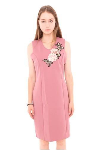 Junno pink Magenta Dress Peony 6C19DAAA093F25GS_1